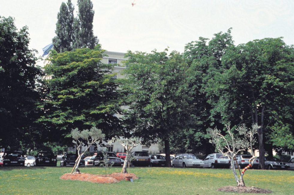 Grafting, 1995, installation view. Ariana Park , Geneva Switzerland